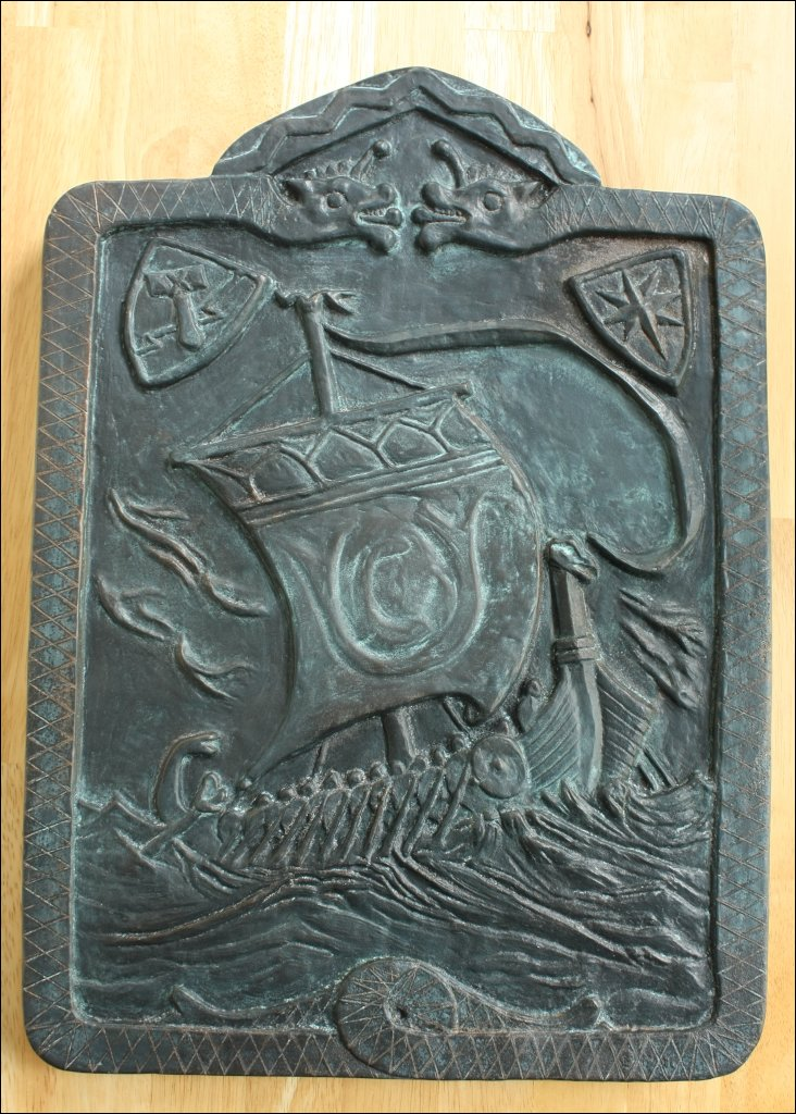 Norse plaque inspired by an old fireback