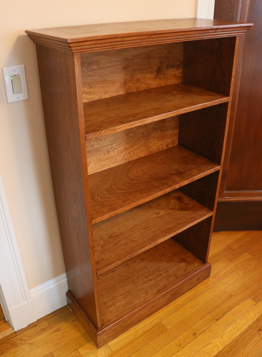 Cherry wood bookcase